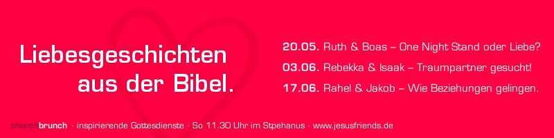 Predigtreihenbanner: Liebesgeschichten aus der Bibel (Text+Farbfläche)