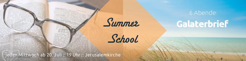 Summer School: 6 Abende zum Galaterbrief