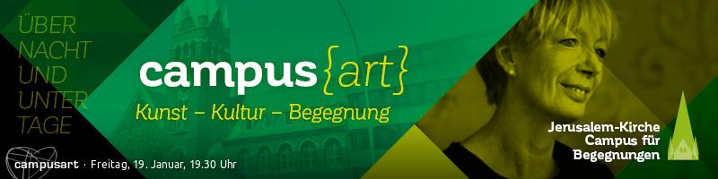 """CampusART mit Petra Albersmann und ihrem Programm """"Über Nacht und unter Tage"""""""