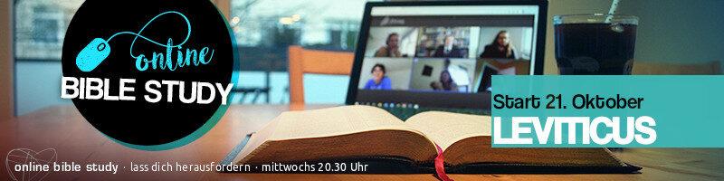 Online BibleStudy: Endlich mal das mit den Regeln und Geboten im Alten Testament verstehen – Buch Leviticus ab 21. Oktober